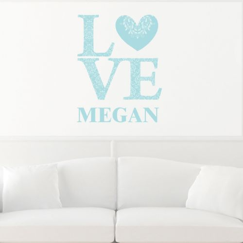 Personalised LOVE Eggshell Wall Art